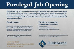 Scottsdale Arizona Paralegal Position.