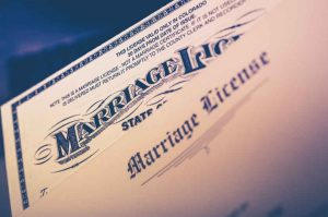 Validity of Marriage License Arizona.