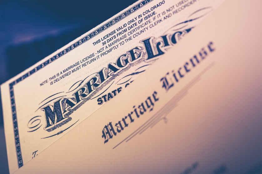 Failure to File Marriage License in Arizona | Hildebrand Law, PC