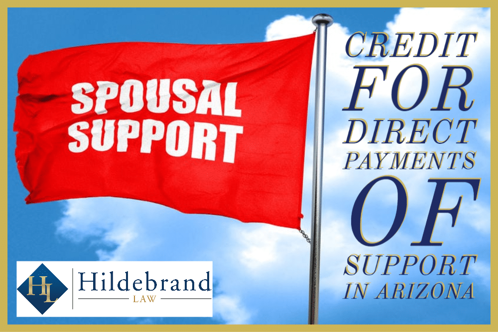 Credit for Direct Payments of Support in AZ