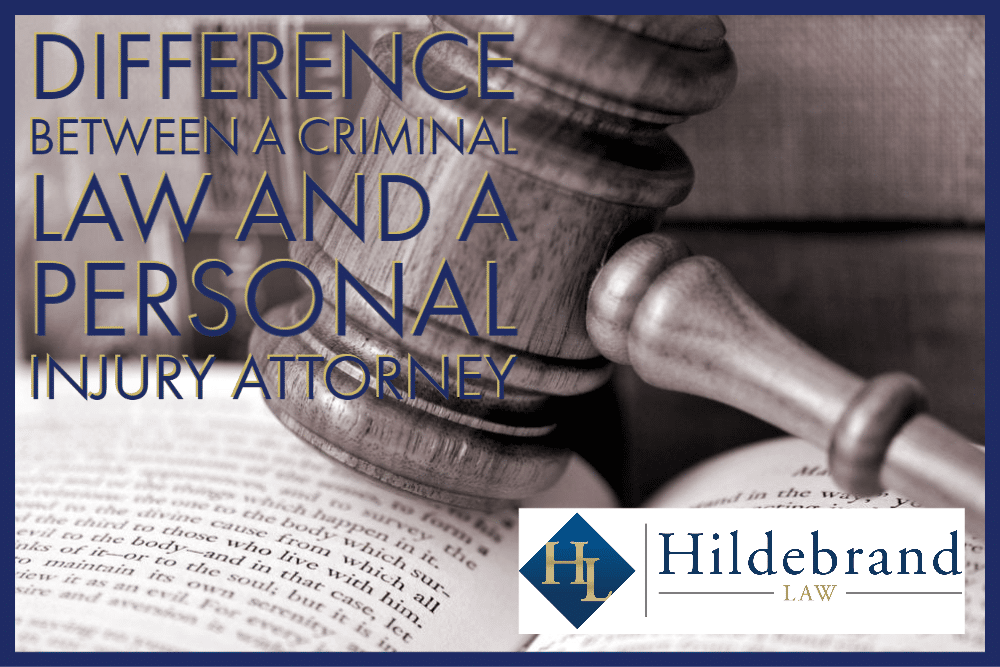 Difference Between a Criminal Law and a Personal Injury Attorney