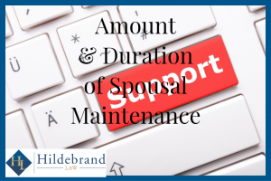 Amount and Duration of Spousal Maintenance in Arizona.