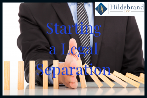 Starting a Legal Separation in Arizona.